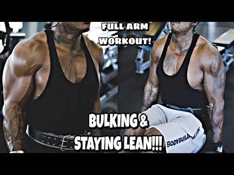 MUST WATCH!!! Bulking & Staying LEAN New Workout Plan, Diet, Supplement Intake, FULL ARM WORKOUT!