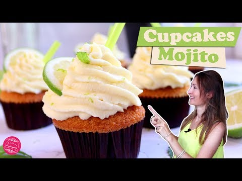🍸-cupcakes-mojito-~-menthe-&-citron-vert-🍸