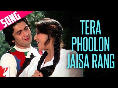 Tera Phoolon Jaisa Rang Song | Kabhi Kabhie | Rishi | Neetu | Kishore Kumar | Lata Mangeshkar