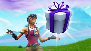GIFTING SKINS TO A GIRL IN FORTNITE