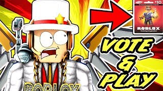 🔴 Roblox Live   Voting On Various Games - Arsenal, Jailbreak, Epic Minigames, Deathrun + ROBUX CARD