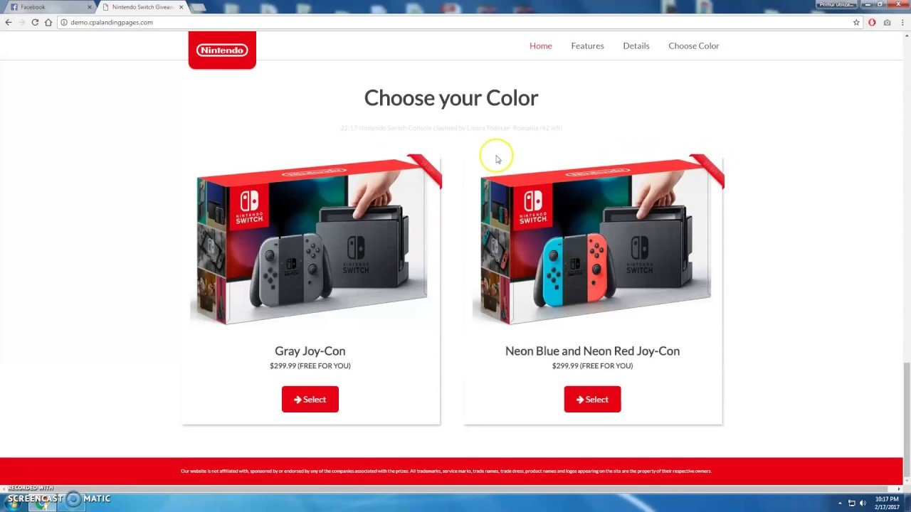 nintendo switch free giveaway nintendo switch giveaway landing page template youtube 344