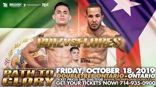 Path To Glory Oct 18, 2019 Fight Night: FIGHT NIGHT: Welterweight prospect Angel Ruiz (16-0, 12 K...