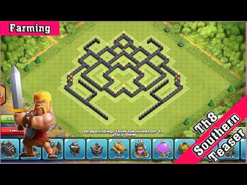 Th8 southern teaser farming version 2 clash of clans 2015