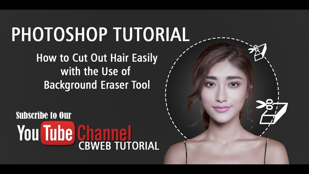 Photoshop tutorial how to cut out hair in photoshop using photoshop tutorial how to cut out hair in photoshop using background eraser tool for beginners baditri Images