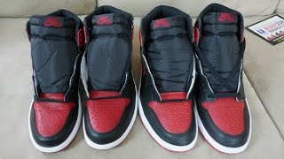 AIR JORDAN 1 BRED REAL VS FAKE