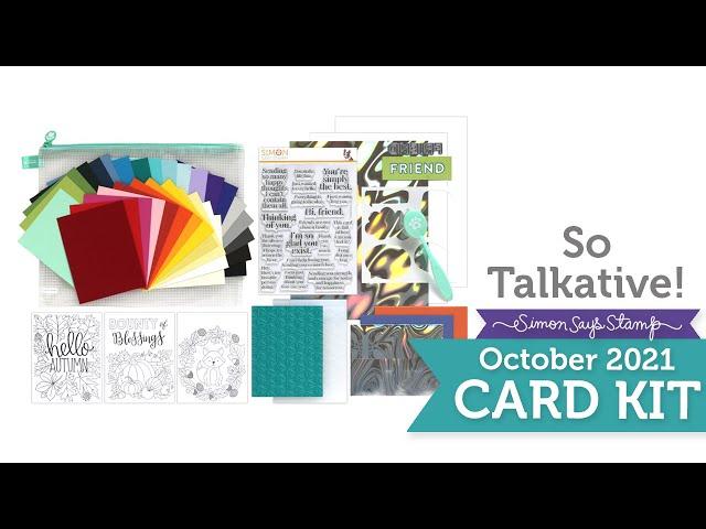 Card Kit Reveal and Inspiration: So Talkative!