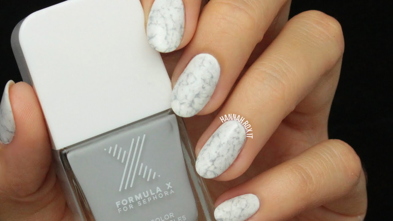 EASY Stone Marble Nail Art - YouTube