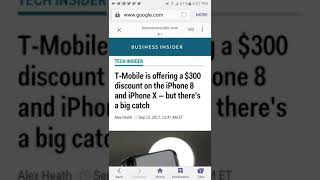 Tmobile 300 dollar discount on Iphone 8 and X