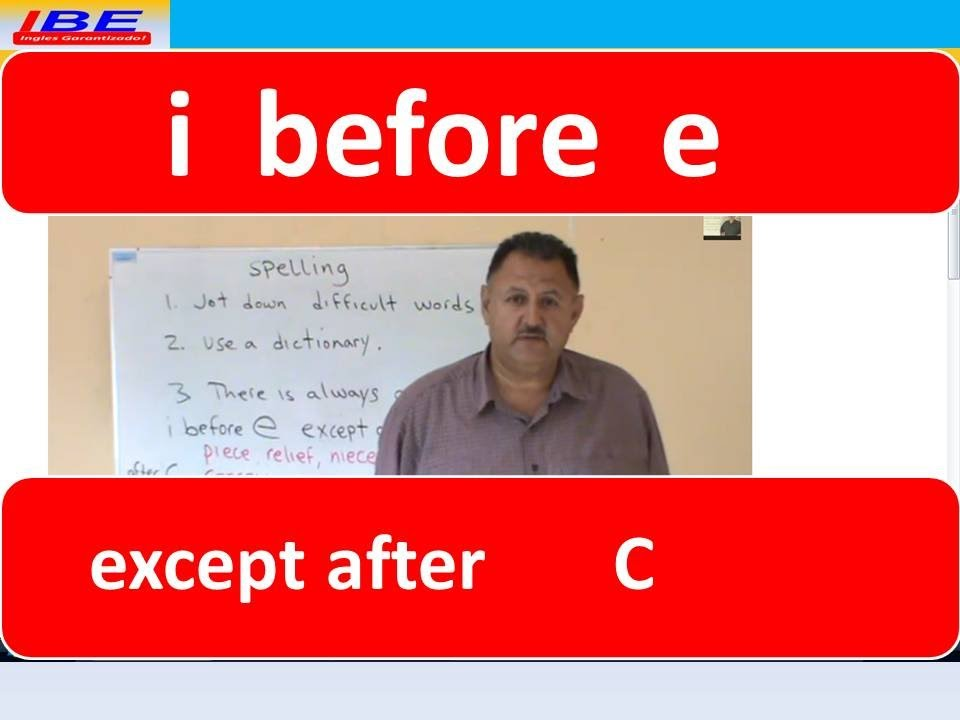 English spelling i before e except after c youtube english spelling i before e except after c sciox Image collections