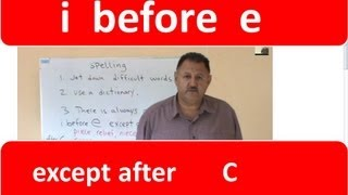 ENGLISH SPELLING      / i / before / e / except after C