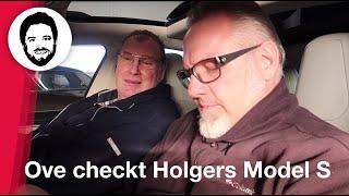 Ove Kröger checkt Tesla P90D Ludicrous Model S von Holger Laudeley! Ist der Akku gesund?