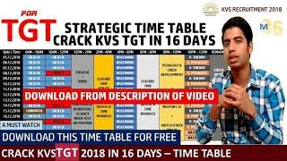 KVS TGT Time Table to Crack KVS in 16 Days   Strategic Time Table for KVS TGT by Mentors 36