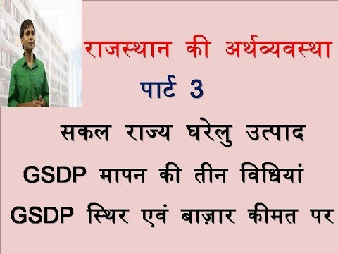 Rajasthan Economics- Gross State Domestic Product - Part 2