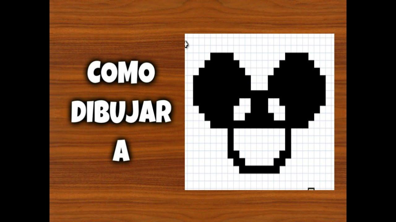 Como dibujar a Deadmau5  Para Minecraft  Pixel Art  8 Bits