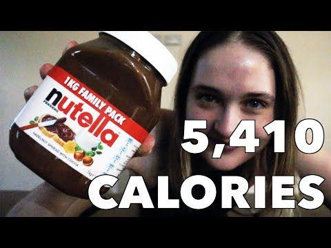 A.D. - Female Competitive Eater Downs 2 Pounds of Nutella in Under Four Minutes?!