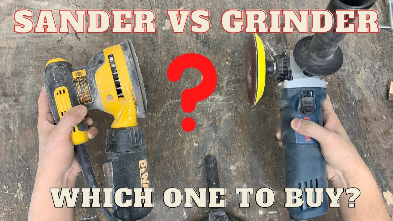 Download Sander VS Grinder! Which one to buy for woodworking shop?