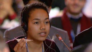 COP21 plenary, Selina Leem, Marshall Islands