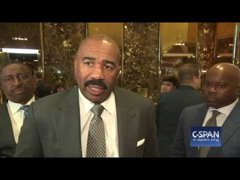 Steve Harvey and President-elect Donald Trump (C-SPAN)