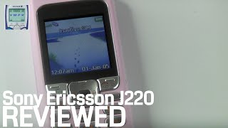 Sony Ericsson J220 Mobile Phone Review from 2005  - ringtones & games