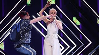 Stage invasion - Eurovision 2018 - United Kingdom