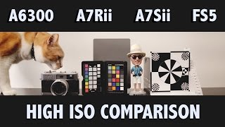 sony a6300 vs a7rii vs a7sii vs fs5 part i high iso comparison in 4k