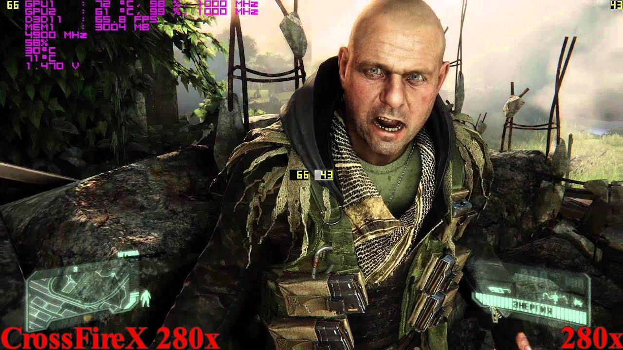 CrossFireX 280x vs 280x in Crysis3 (затравка)