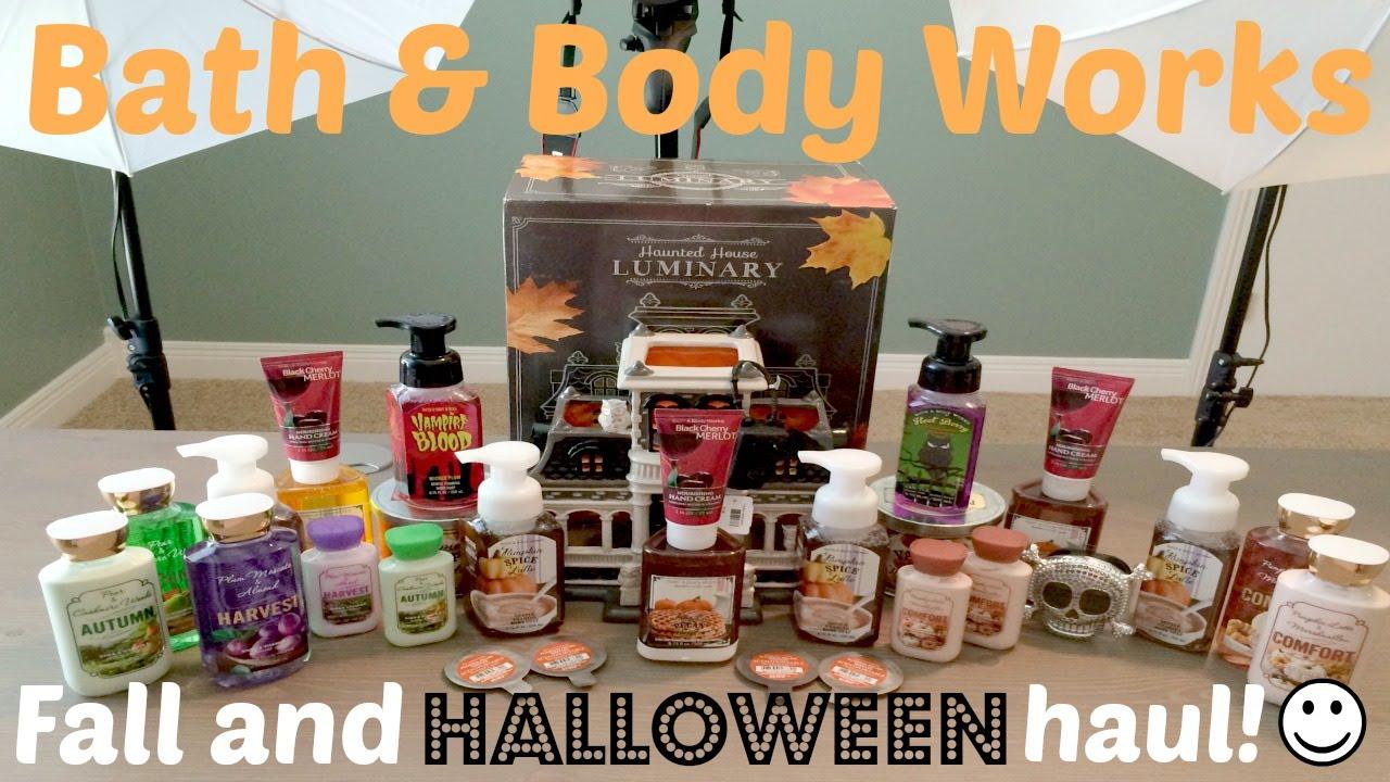 bath body works fallhalloween haul youtube