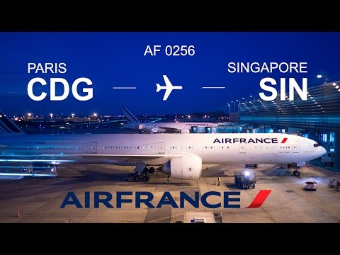 Flight experience Premium Economy Air France from Paris (CDG) to Singapore (SIN) with Boing 777-300