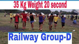 Railway Group-D 100Mtr Weight Running Woman 20kg or Men 35Kg