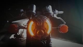 Led фара на мотоцикл Jawa 350 638 ,Урал, Иж , Днепр , МТ , Ява обзор ,установка ледовской фары