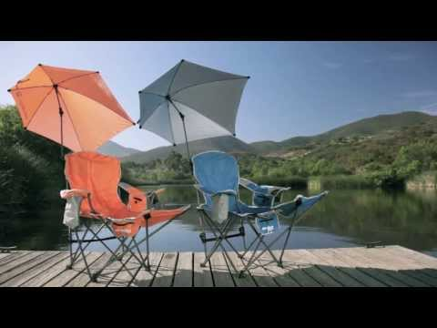 I need these folding chairs with umbrella! It feels like heat is getting more oppressive!