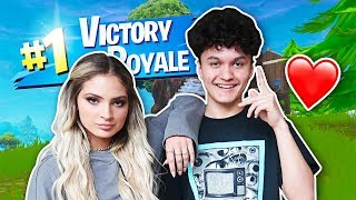 I Carried my Girlfriend to a WIN on Fortnite
