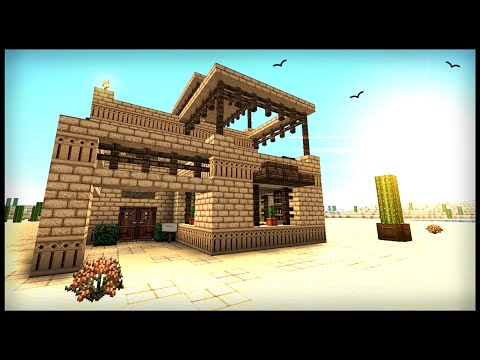 How To Build a Middle Eastern Desert House - Minecraft Tutorial