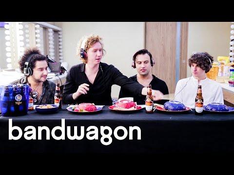The Kooks react to Singaporean music and food: Bandwagon Taste-Test