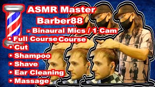 ASMR Barber88 - Edward''s First Visit [Full course]
