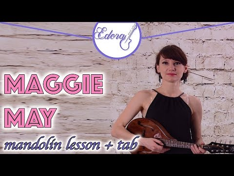 Mandolin lesson Maggie May for beginners