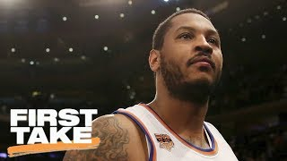 First Take Debates Knicks And Rockets Resuming Carmelo Anthony Trade Talks | First Take | ESPN