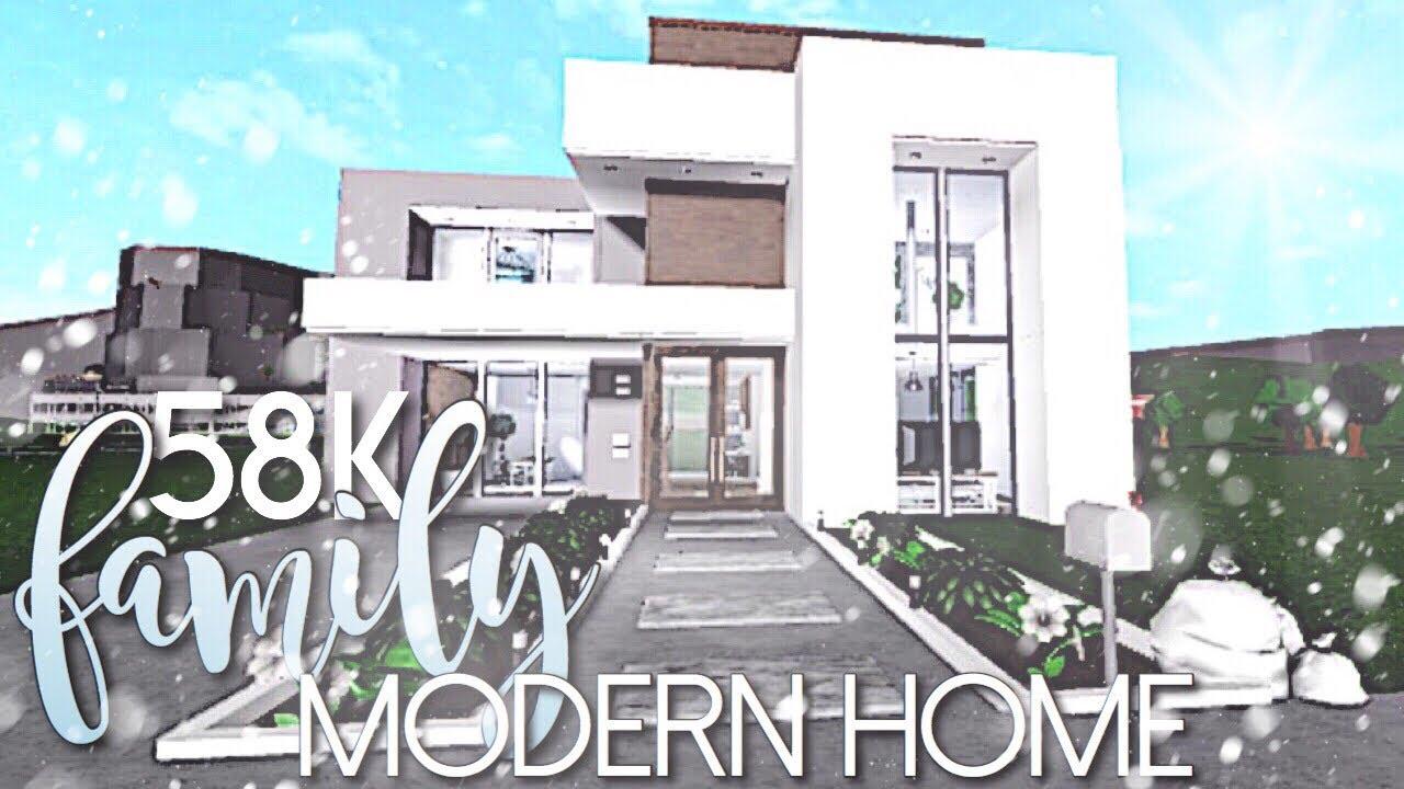 BLOXBURG || Family Modern Home 58K - ViDoe