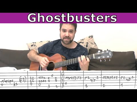 Fingerstyle Tutorial: Ghostbusters Theme - Guitar Lesson w/ TAB