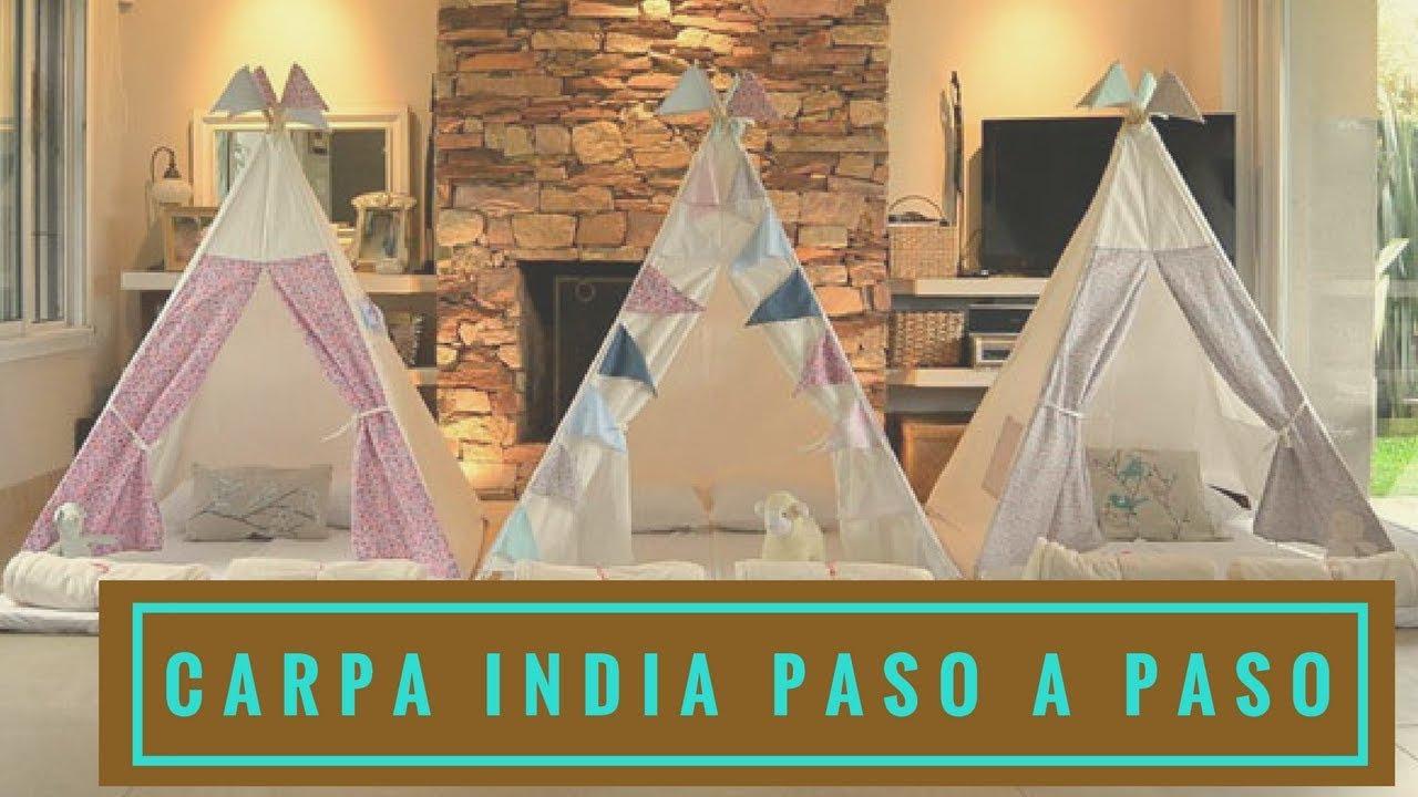 Como hacer un teepee o carpa estilo indio empo ep 25 for Como hacer un criadero de carpas