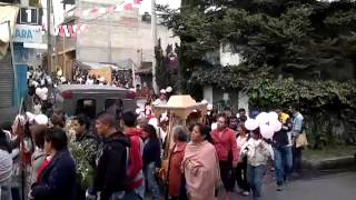fiestas patronales santa rosa xochiac 2013 ,procesion