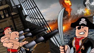Roblox | BUILDING THE ULTIMATE WATER FORT! (Boat vs Boat Battles)