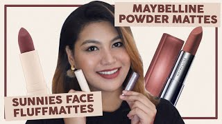 SUNNIES FACE FLUFFMATTES O MAYBELLINE POWDER MATTES? WEAR TEST and COMPARISON REVIEW | Sienna G ❤