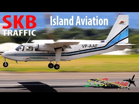 Small Propeller Action !!! BN-2 Islander, Piper PA-32R-300 @