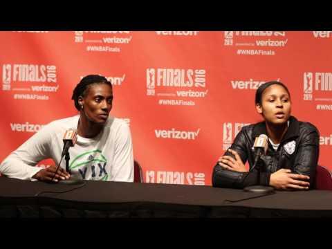 Minnesota Lynx Maya Moore and Sylvia Fowles Press conference