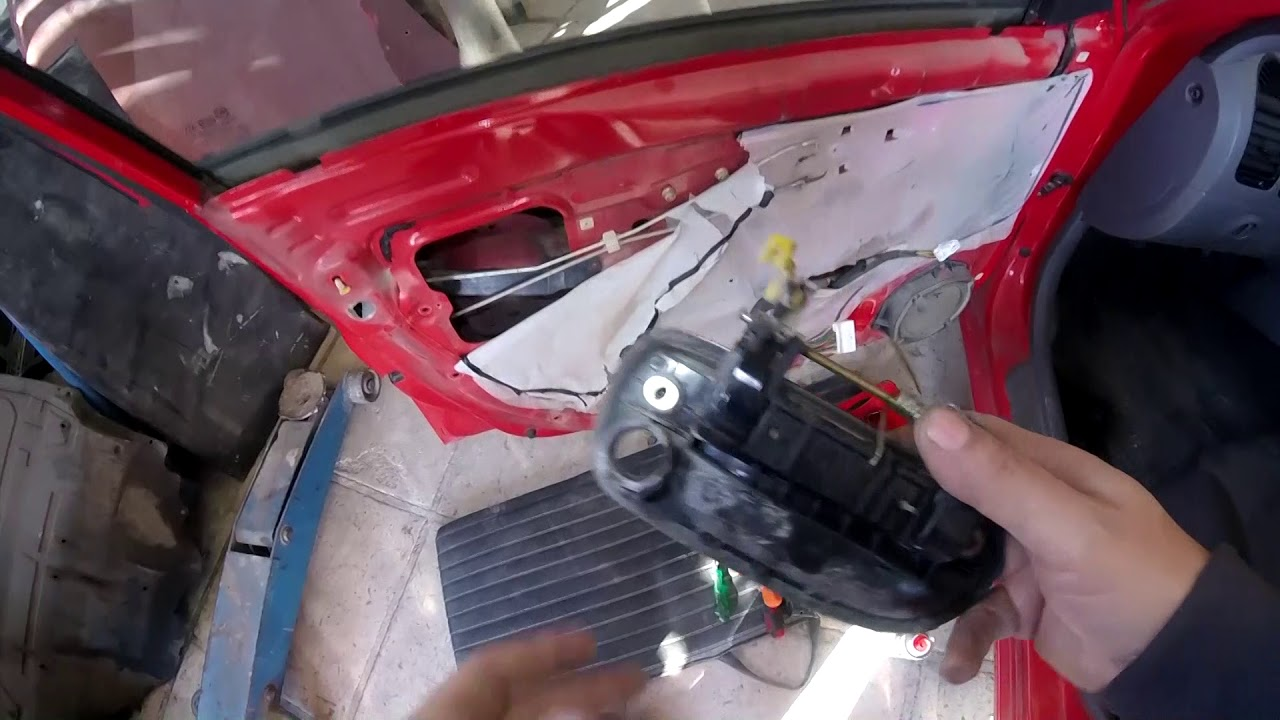 Hyundai Accent How To Replace Outside Car Door Handle Youtube