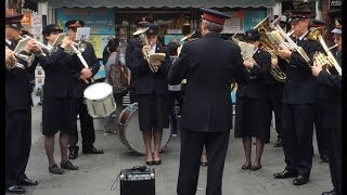 The Famous Salvation Army Band Every Sunday Outside Oxford Circus Tube Station London