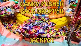 CANDY PUSHER CLAW MACHINE BACK DROPPER