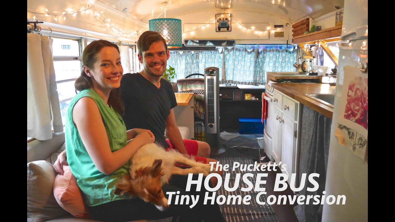 Gorgeous Tiny House Bus Conversion Full Tour wThe Pucketts